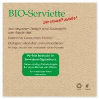 BIO-Standard-Servietten mit Motivdruck
